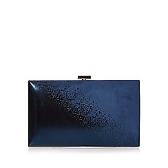 Debut - Navy ombre-effect clutch bag