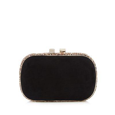 Debut Black glitter clutch bag