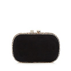 Debut - Black glitter clutch bag