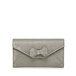 Debut - Metallic bow clutch bag