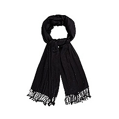Debut - Black embellished border pashmina