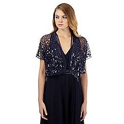 Debut - Navy sequinned shrug