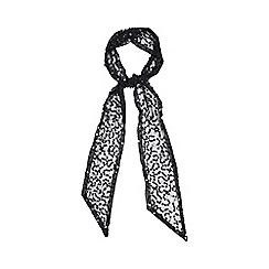 Debut - Black sequin skinny scarf