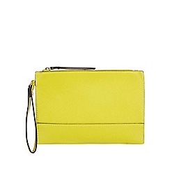 Star by Julien Macdonald - Yellow textured clutch bag