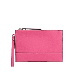 Star by Julien Macdonald - Bright pink textured clutch bag