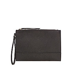Star by Julien Macdonald - Black textured clutch bag