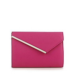 Star by Julien Macdonald - Bright pink asymmetric bar clutch