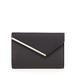 Star by Julien Macdonald - Black asymmetric bar clutch