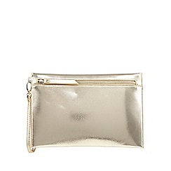 Star by Julien Macdonald - Gold metallic textured clutch bag
