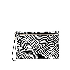 Star by Julien Macdonald - White zebra print clutch bag