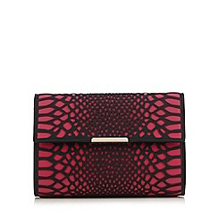Star by Julien Macdonald - Bright pink cut-out snakeskin-effect clutch bag