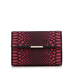 Star by Julien Macdonald - Bright pink cut-out snakeskin-effect clutch bag