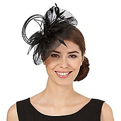 Star by Julien Macdonald - Black sweep flower fascinator