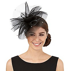 Star by Julien Macdonald - Black diamante cloud fascinator