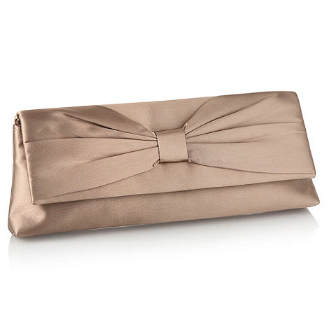Debut - Taupe bow clutch bag