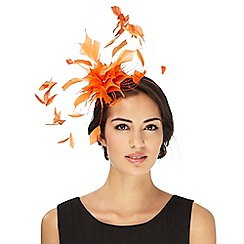 Star by Julien Macdonald - Orange dandelion effect fascinator