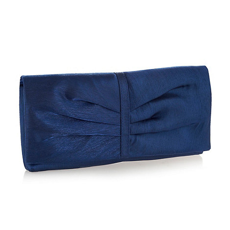 Debut - Dark blue organza clutch bag