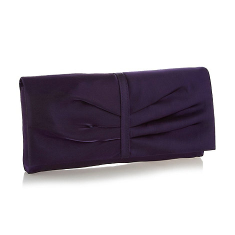 Debut - Purple organza clutch bag