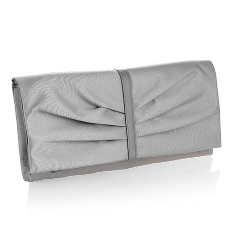 Debut - Silver organza clutch bag