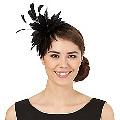 Star by Julien Macdonald - Black tropical floral band fascinator