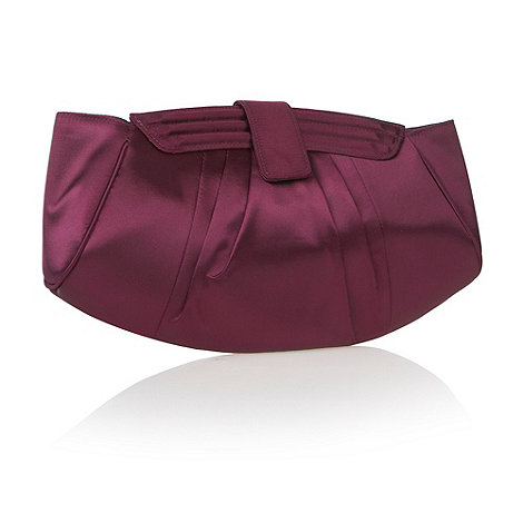 Debut - Purple Clam Shell Clutch