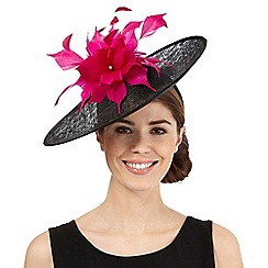 Star by Julien Macdonald - Black flower saucer fascinator