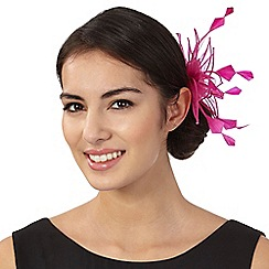Star by Julien Macdonald - Bright pink flower clip fascinator