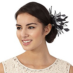 Star by Julien Macdonald - Black flower clip fascinator