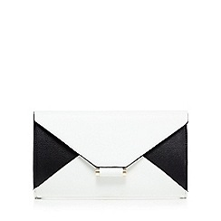 Star by Julien Macdonald - White colour block envelope clutch bag
