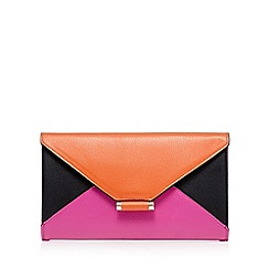 Star by Julien Macdonald - Multi-coloured colour block envelope clutch bag