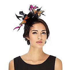 Star by Julien Macdonald - Black feather butterfly fascinator