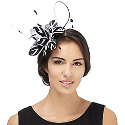 Star by Julien Macdonald - Black two tone feather fascinator