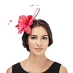 Star by Julien Macdonald - Pink two tone feather fascinator