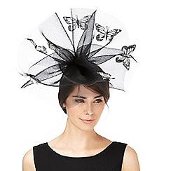 Star by Julien Macdonald - Black monochrome butterfly fascinator
