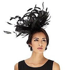 Star by Julien Macdonald - Black feather fascinator
