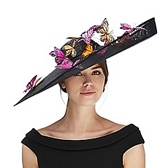 Star by Julien Macdonald - Black butterfly saucer fascinator