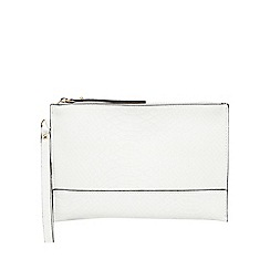 Star by Julien Macdonald - White textured reptile-effect clutch bag