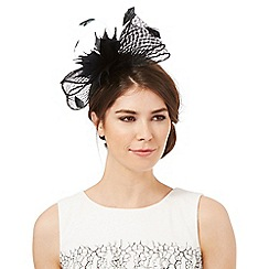 J by Jasper Conran - Black windowpane bow fascinator