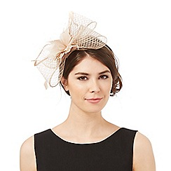 J by Jasper Conran - Beige windowpane bow fascinator