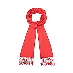 J by Jasper Conran - Bright red silk blend pashminetta