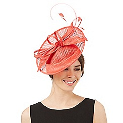 J by Jasper Conran - Bright red windowpane quill fascinator
