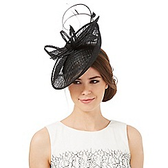 J by Jasper Conran - Black windowpane quill fascinator