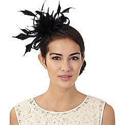 J by Jasper Conran - Black small feather fascinator