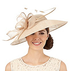 J by Jasper Conran - Beige windowpane down brim hat