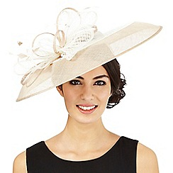 J by Jasper Conran - Beige two tone windowpane saucer fascinator