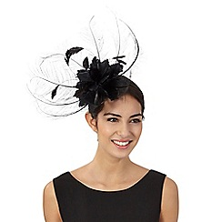J by Jasper Conran - Black fine feather fascinator