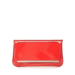 J by Jasper Conran - Bright red metal bar patent clutch bag