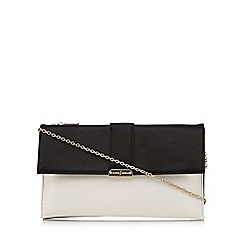 J by Jasper Conran - Black colour block clutch bag