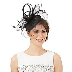 J by Jasper Conran - Black cloud fascinator