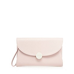 J by Jasper Conran - Pink textured clutch bag